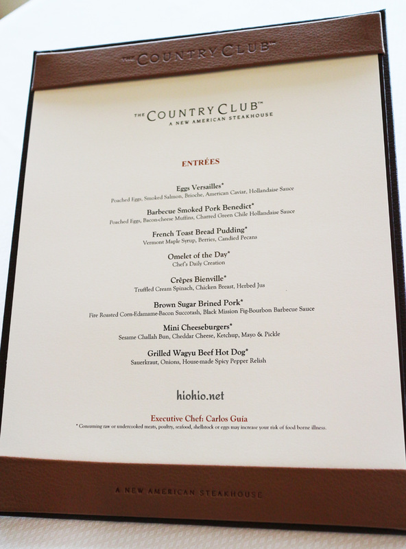 Jazz Brunch at the Country Club Wynn.  Made to order items.