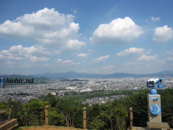 View from Iwateyama Monkey Park- Kyoto- highest scenic point.