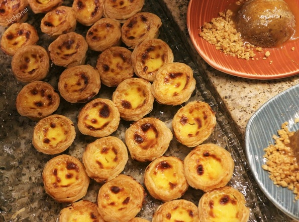 Caesars Bachannal Brunch- Desserts- (Chinese Egg Tarts).
