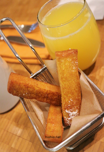 Buffet at Aria Las Vegas (French Toast and Mimosa).