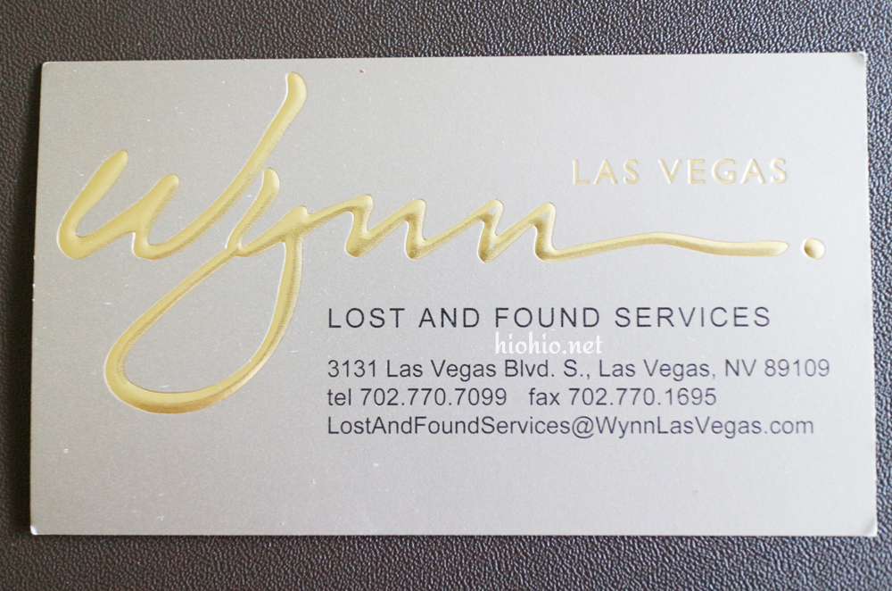 Wynn Las Vegas (Lost and Found).