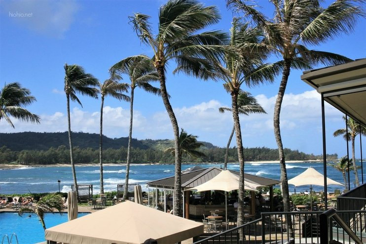 Turtle Bay Resort Oahu Hawaii (View from Kula Grille Restaurant).