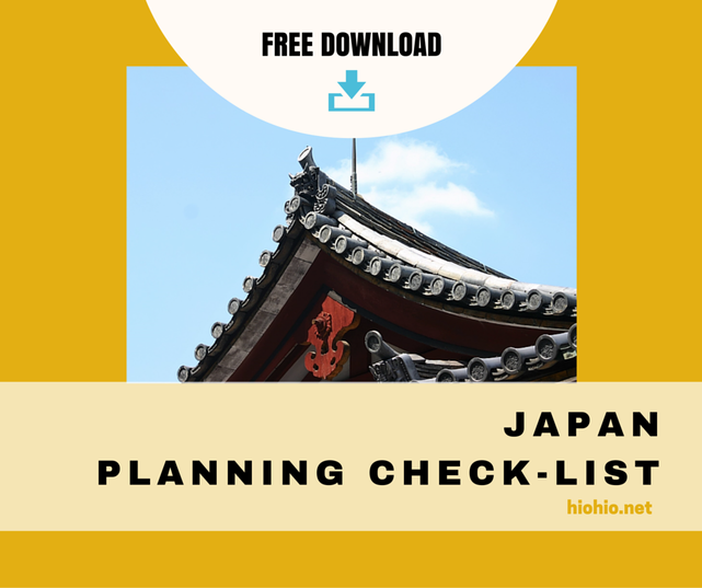 Japan Planning Check-list  |  Free PDF Download |  hiohio.net