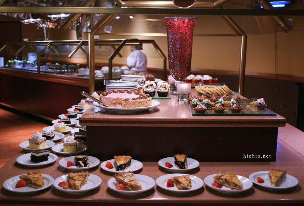 Fort McDowell Casino Arizona (All-you-can-eat Buffet) Red Rock Buffet.  Desserts table (Pies, cakes, cookie, cupcakes).